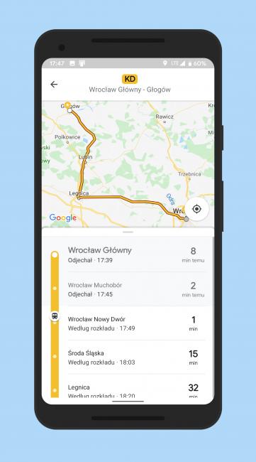 Koleje Dolnośląskie dołączają do Google Transit. Długo czekaliśmy 20