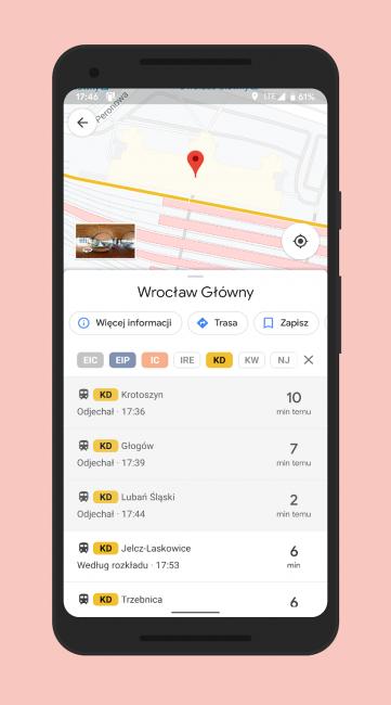 Koleje Dolnośląskie dołączają do Google Transit. Długo czekaliśmy 18