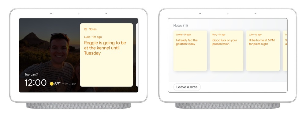 Google Assistant Asystent Google sticky notes