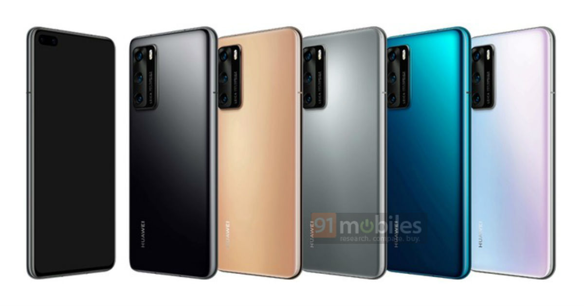 Huawei P40 colors colours kolory