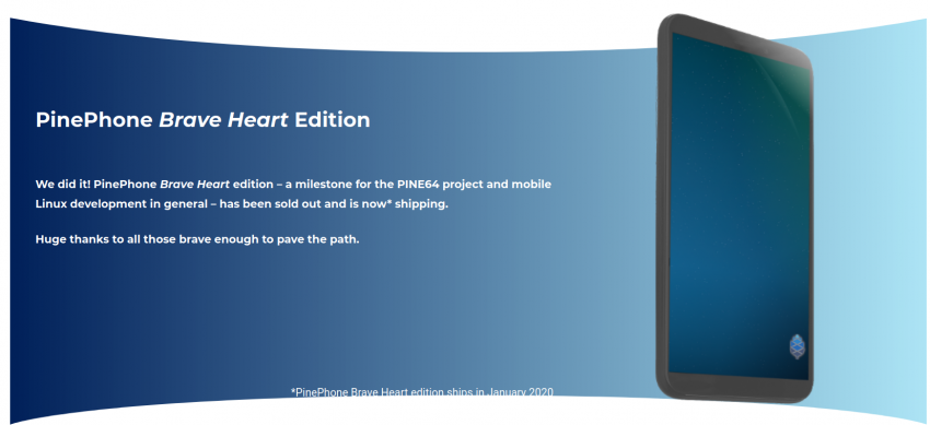 smartfon PinePhone Brave Heart Edition