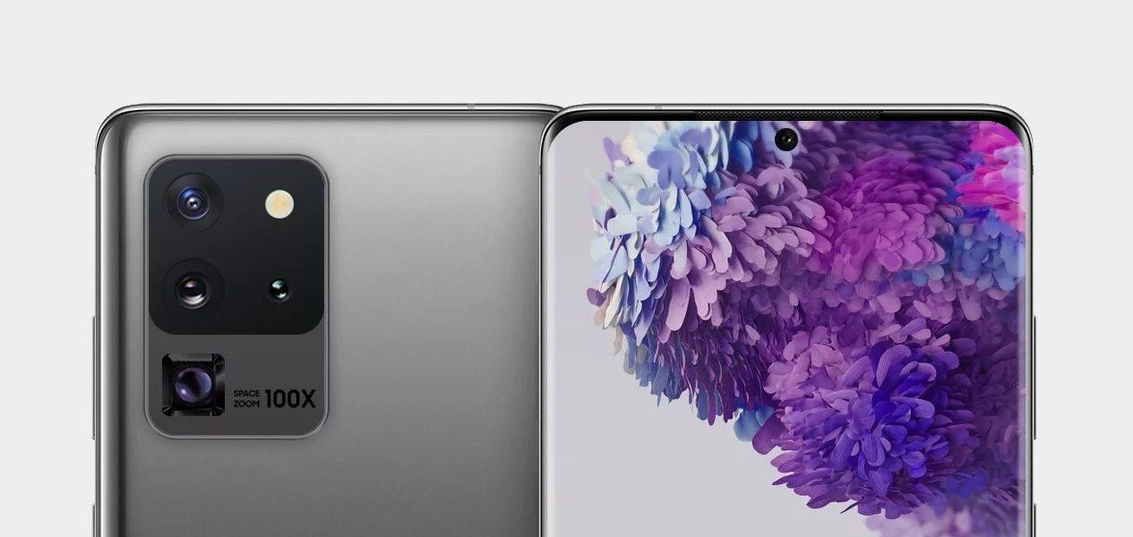 smartfon Samsung Galaxy S20 Ultra render