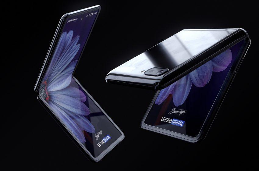składany smartfon Samsung Galaxy Z Flip - render