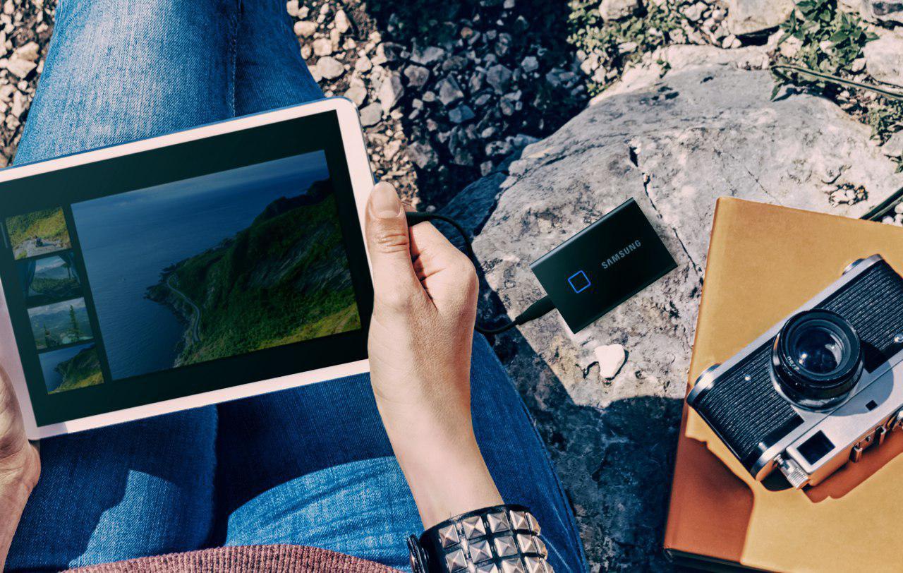 Samsung T7 Touch - dysk SSD z... czytnikiem linii papilarnych