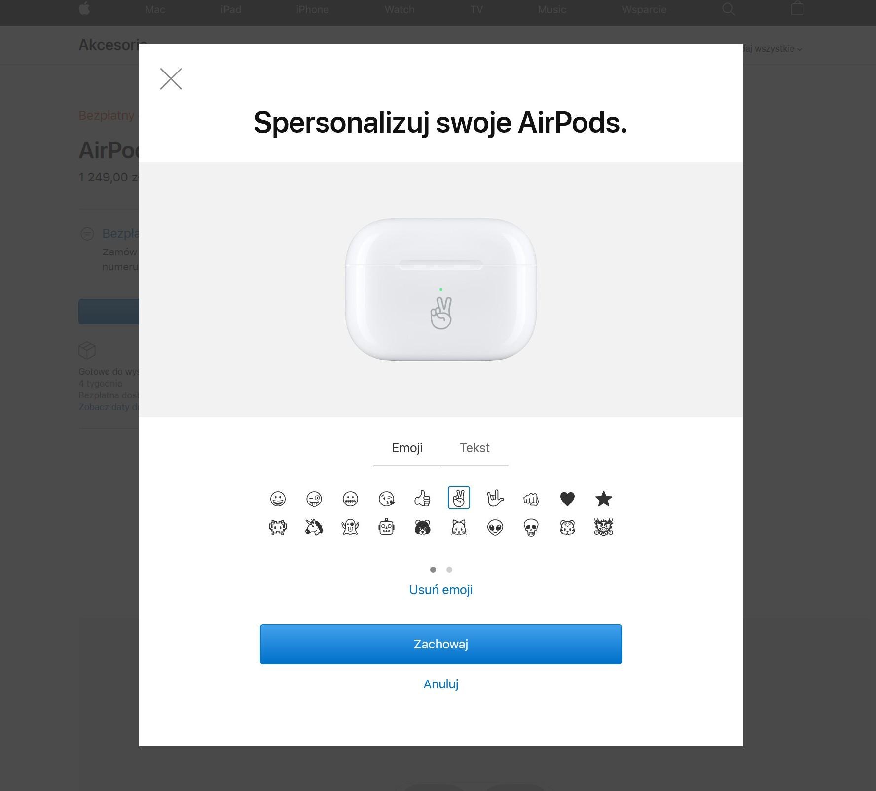 Na etui od AirPods wygrawerujesz już nie tylko tekst, ale i emoji 20
