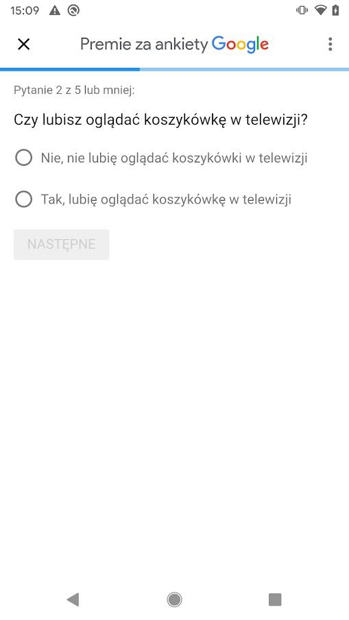 ankiety Google