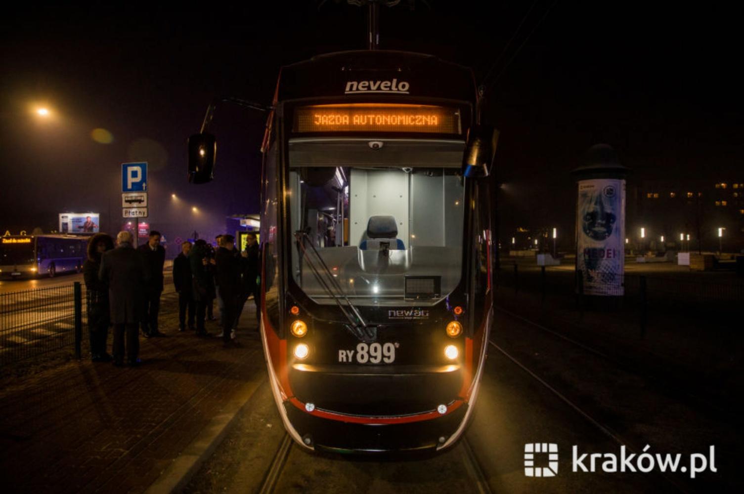 Autonomiczny tramwaj w Krakowie. Pierwsze testy już za nami