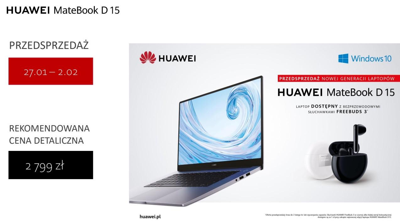 Najnowsze MateBooki od Huawei już w Polsce. Nowy D 14 to przepis na hit