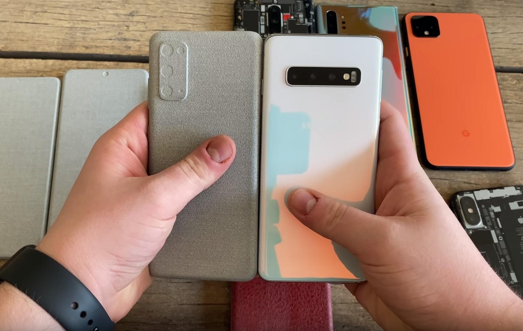 Samsung Galaxy S20, S20+ oraz S20 Ultra - porównanie wielkości obudowy 19