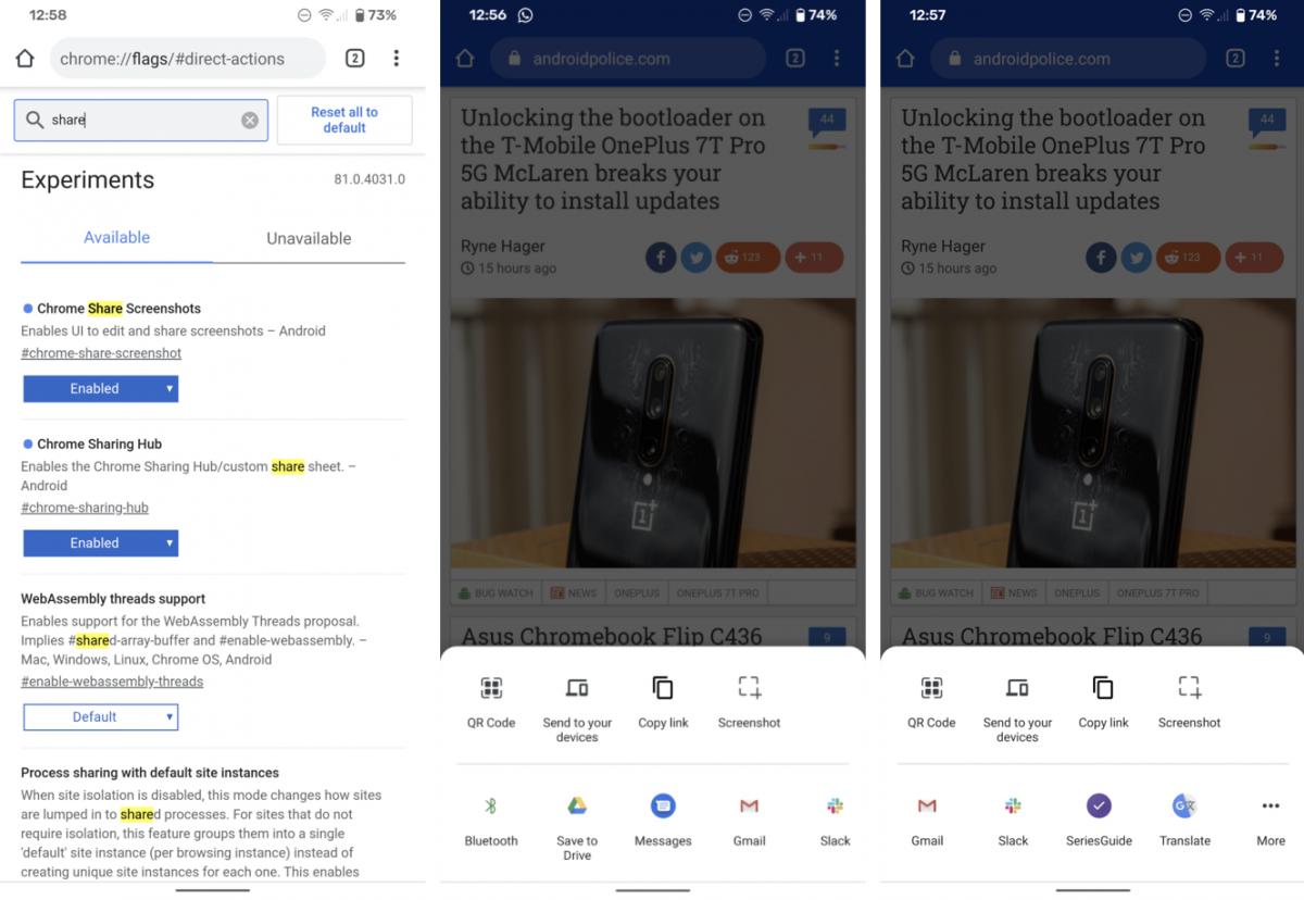 Google Chrome na Androida otrzyma nowe menu udostępniania 21