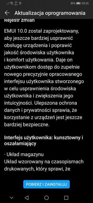 Aktualizacja do Androida 10 wraz z EMUI 10 dla Huawei Mate 20 Pro już w Polsce!
