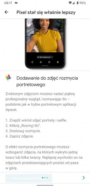 Smartfony Google Pixel dostają nowe funkcje: rozmywanie tła w zdjęciach z galerii oraz dyktafon 25
