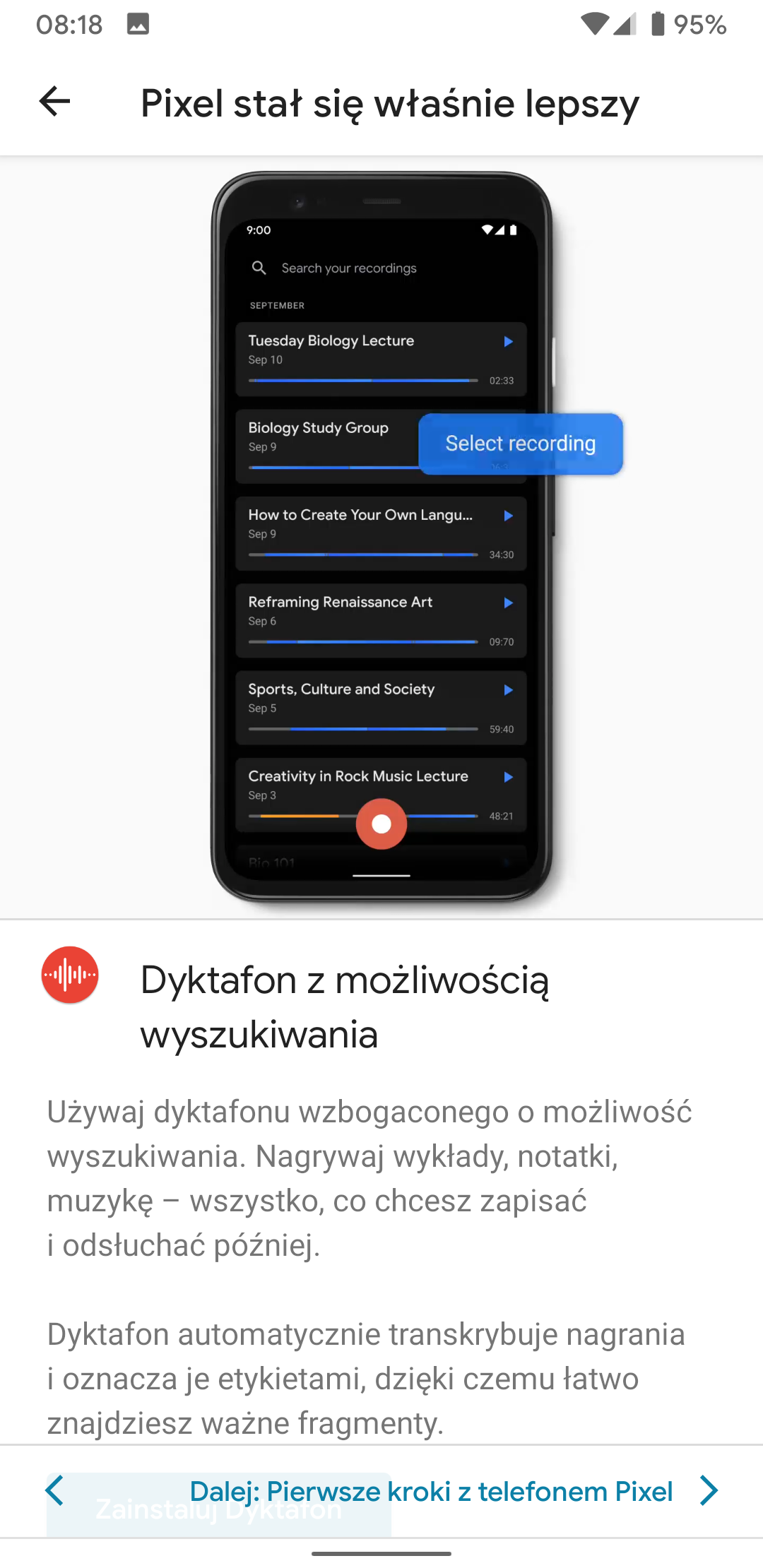 Smartfony Google Pixel dostają nowe funkcje: rozmywanie tła w zdjęciach z galerii oraz dyktafon 21