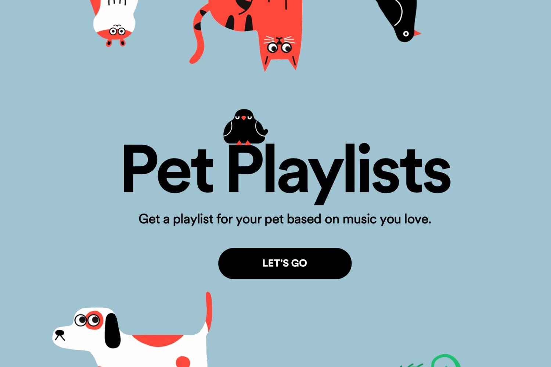 Spotify: stwórz playlistę dla swojego pieska, kota lub/i chomika