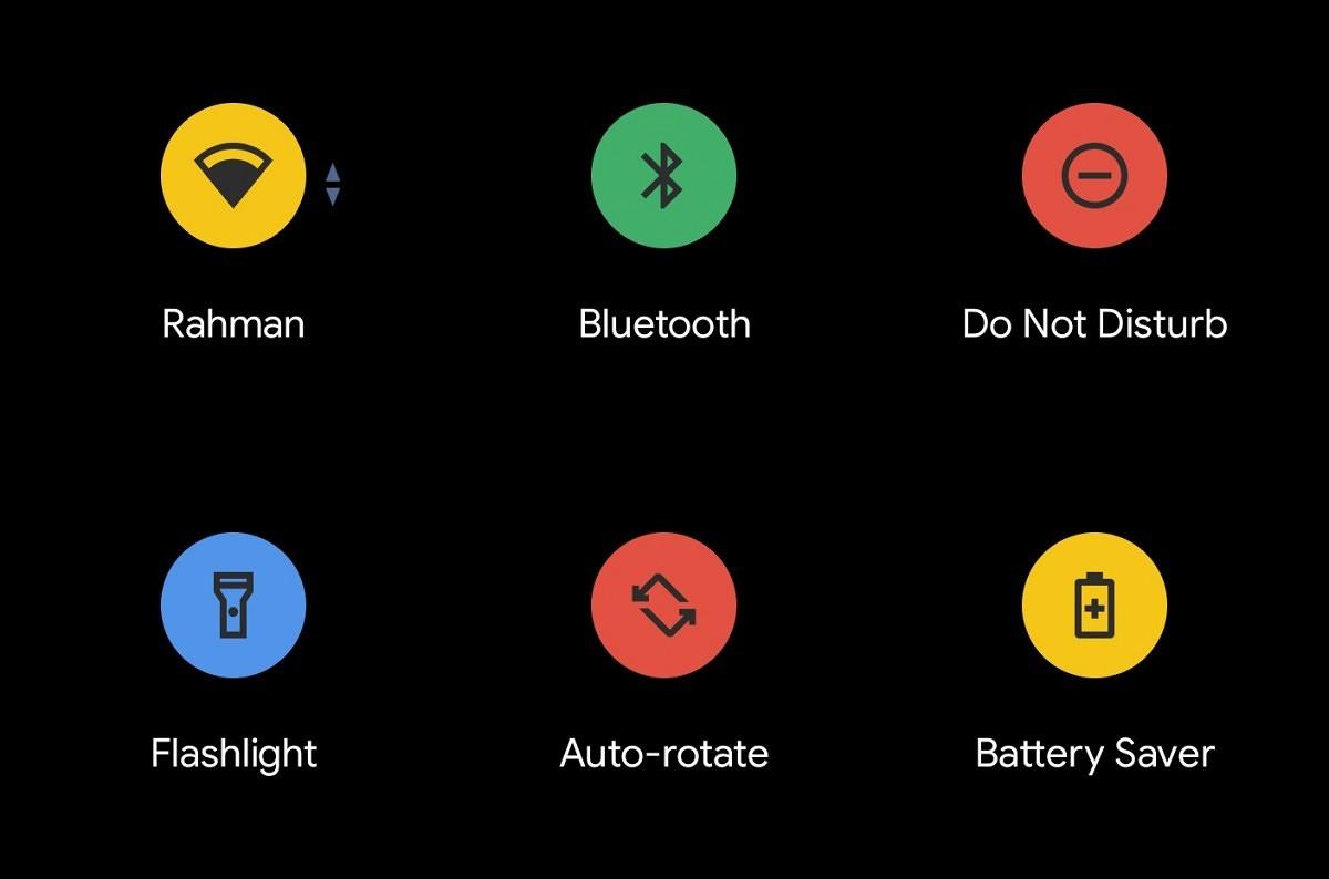 Szybkie ustawienia w Androidzie 11: kolorowe przyciski i odtwarzacz muzyki