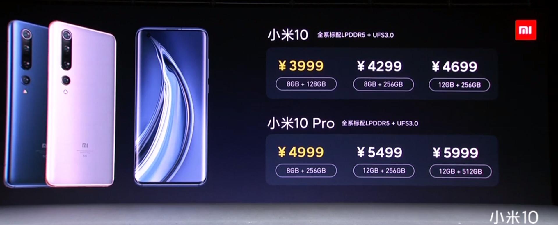 Xiaomi Mi 10 Pro ceny