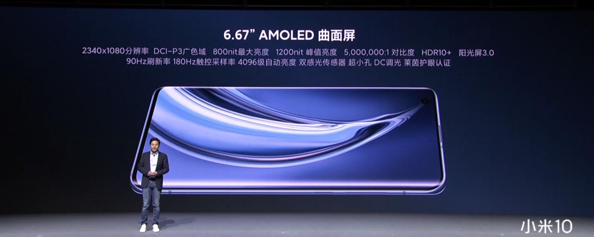 Xiaomi Mi 10 Pro ekran