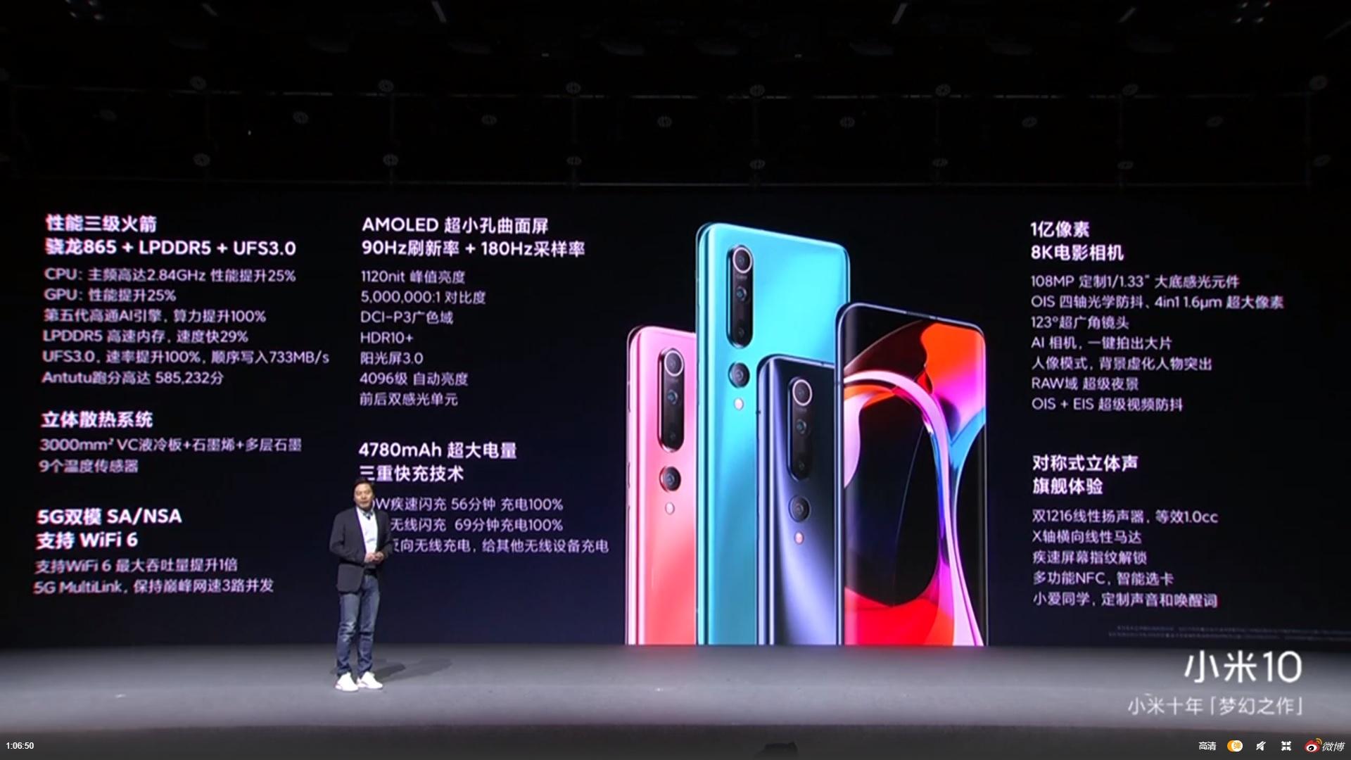 Xiaomi Mi 10 specyfikacja