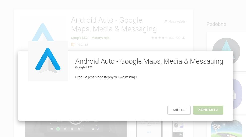 Nowość w Android Auto - oznaczenia limitów prędkości w Mapach Google