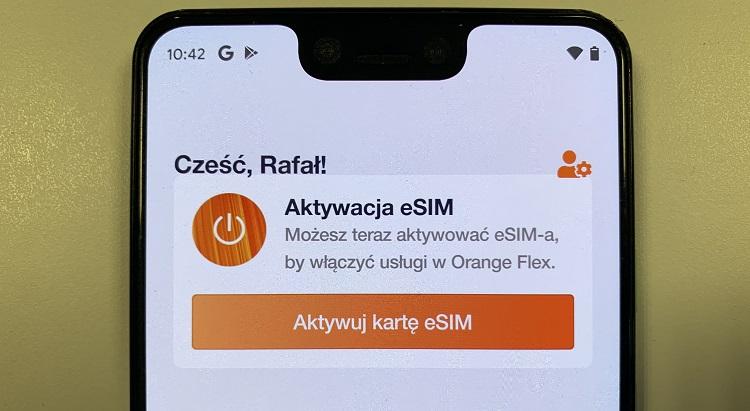 Orange Flex obsługuje już karty eSIM w smartfonach z Androidem