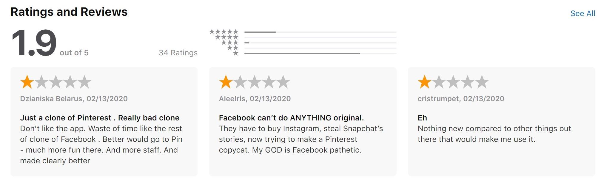 Facebook w żałośnie słabym stylu kopiuje Pinterest i tworzy własną aplikację Hobbi