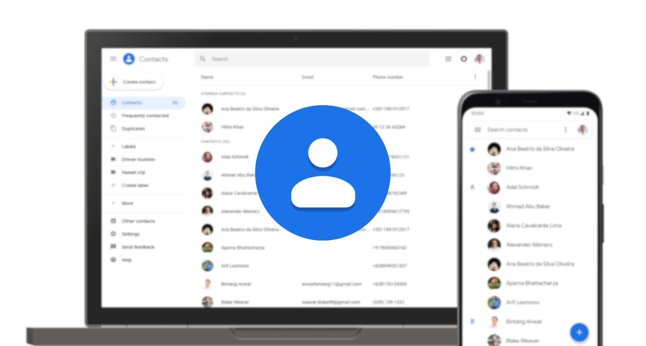 Kontakty Google dostają opcję tworzenia kopii zapasowych numerów zapisanych lokalnie 19