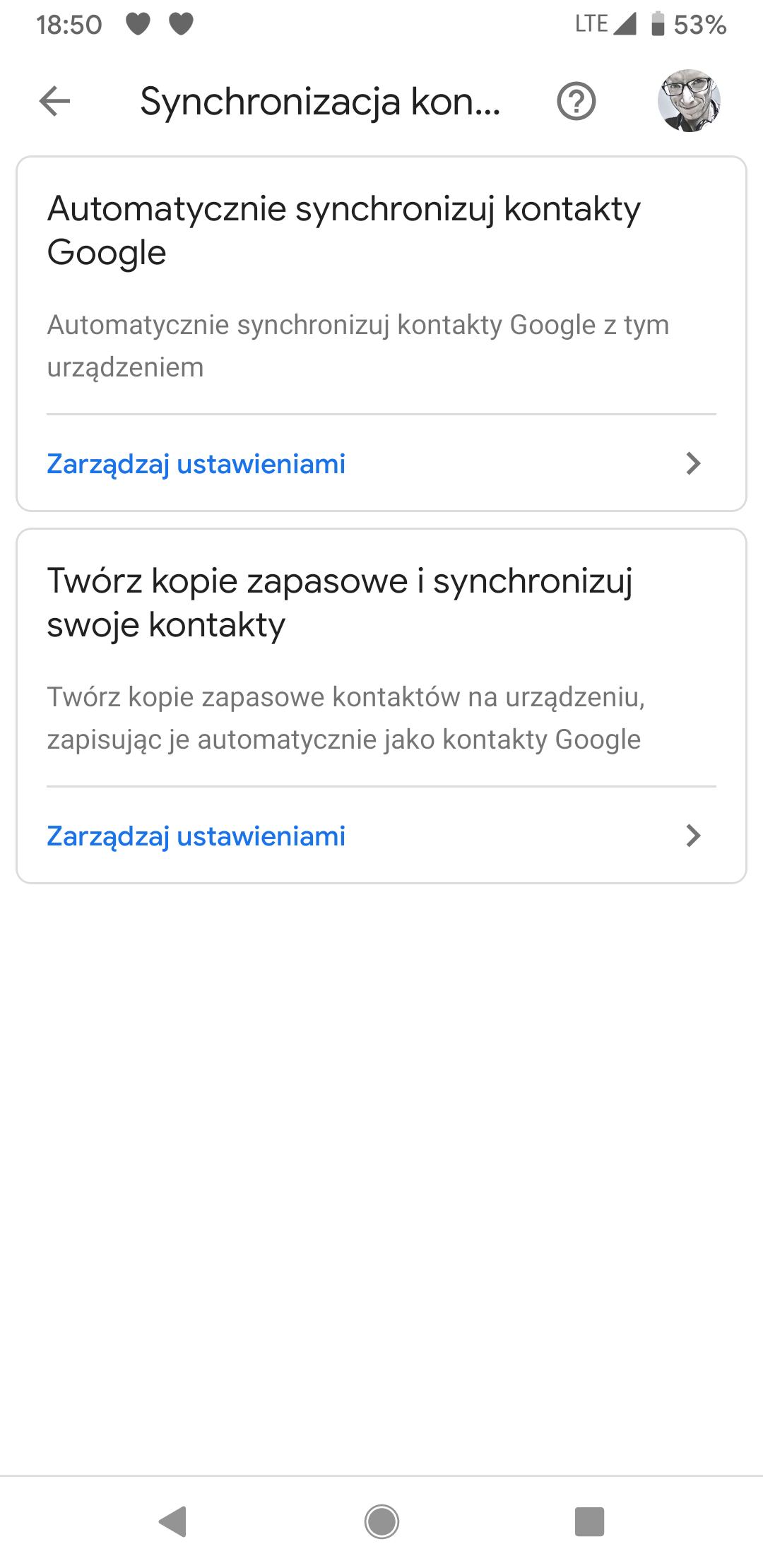 Kontakty Google dostają opcję tworzenia kopii zapasowych numerów zapisanych lokalnie 20