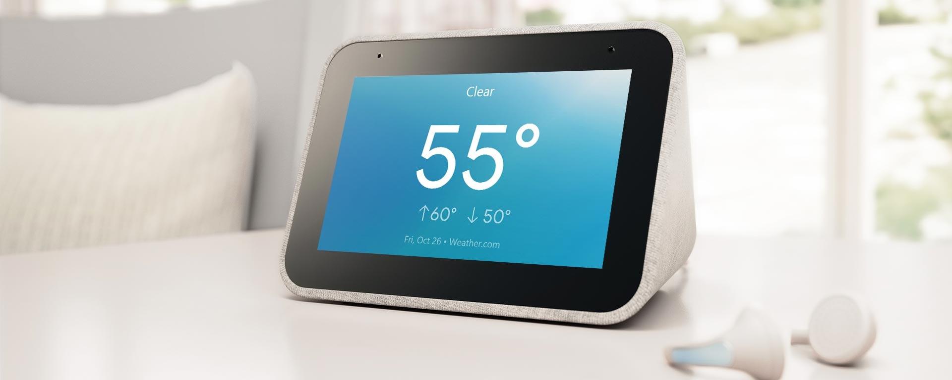 Spośród 850 projektów, Google wybiera najlepszy widżet zegara na Lenovo Smart Clock 18