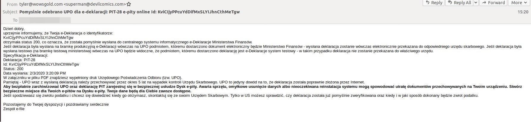 Deklaracje PIT to ostatnio ulubiony temat oszustów internetowych w Polsce 19