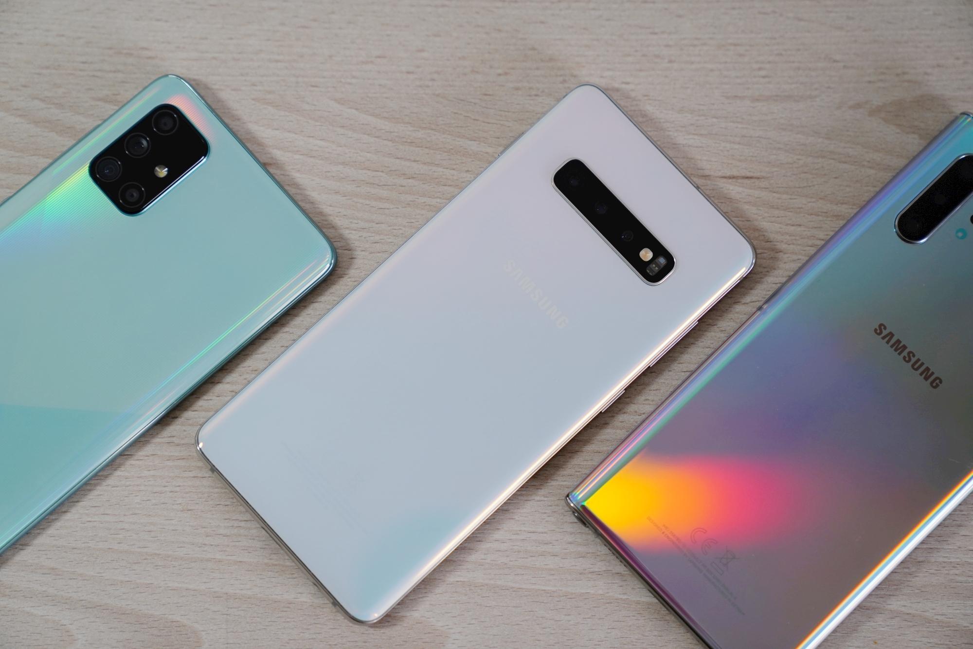 Samsung Galaxy A51 Galaxy S10+ Galaxy Note 10