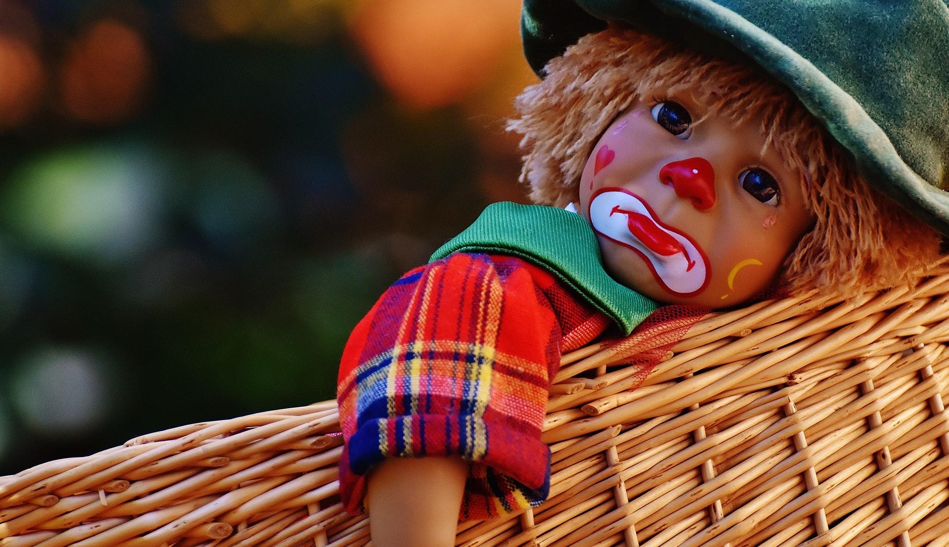 smutek płacz sad smutny klaun