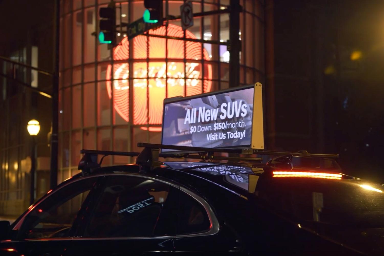 Uber wprowadzi reklamy. Pojawią się na samochodach