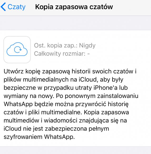 WhatsApp na iOS wkrótce z wyczekiwanym szyfrowaniem w iCloud. Testy już trwają