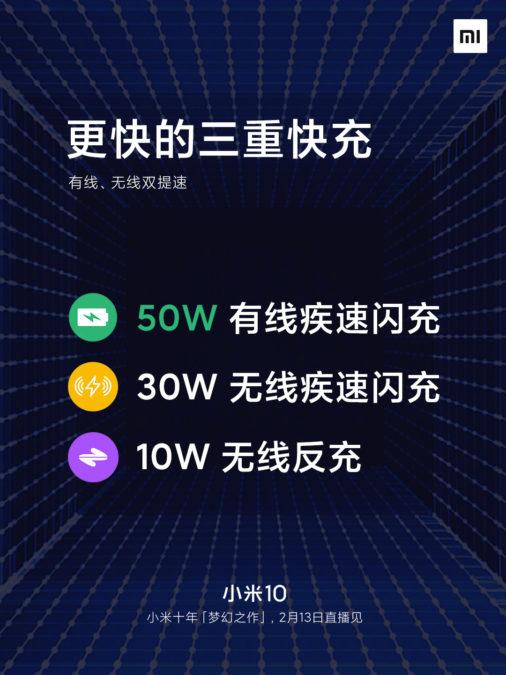 """Xiaomi Mi 10 będzie szybciej ładować się bezprzewodowo niż niektóre smartfony """"po kablu"""""""