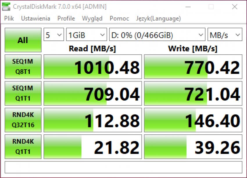 Samsung Portable SSD T7 Touch - dysk chroniony odciskiem palca (test) 37