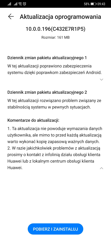 Huawei odkręcił kurek z aktualizacjami - Mate 20 Pro dostaje kolejną