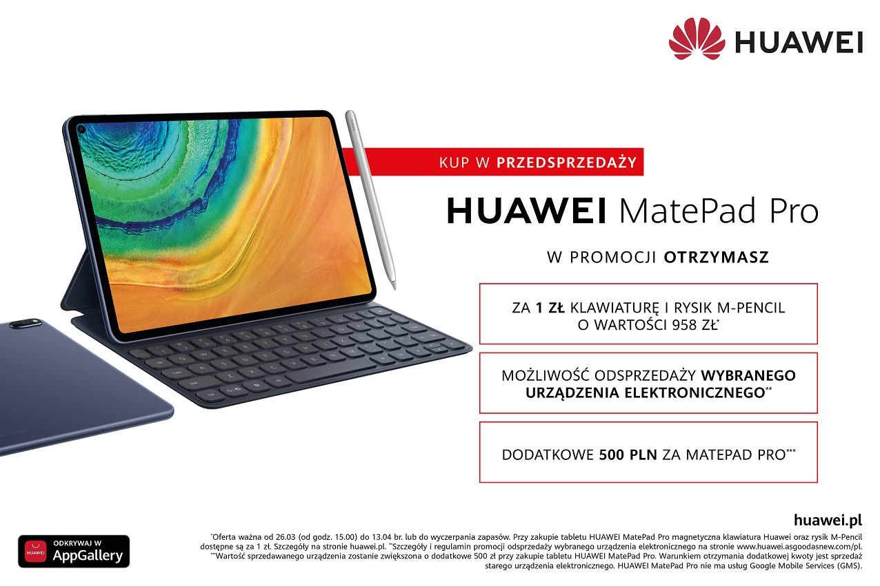 Huawei MatePad Pro przedsprzedaż oferta