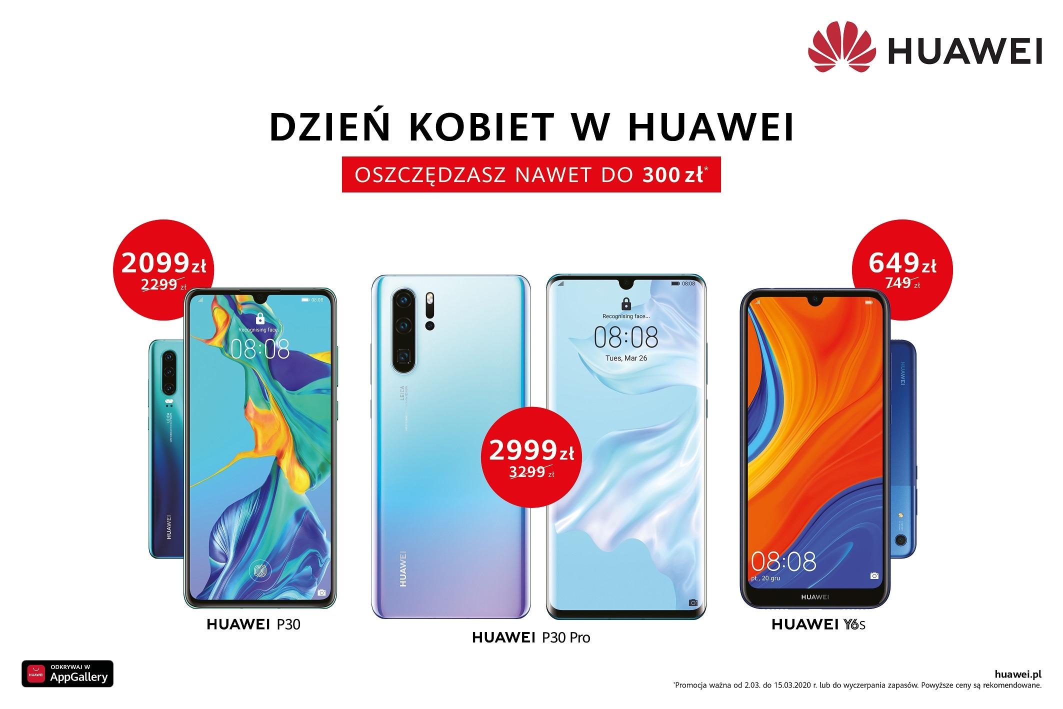 Promocja na flagowce Huawei - P30 i P30 Pro w niższych cenach na Dzień Kobiet