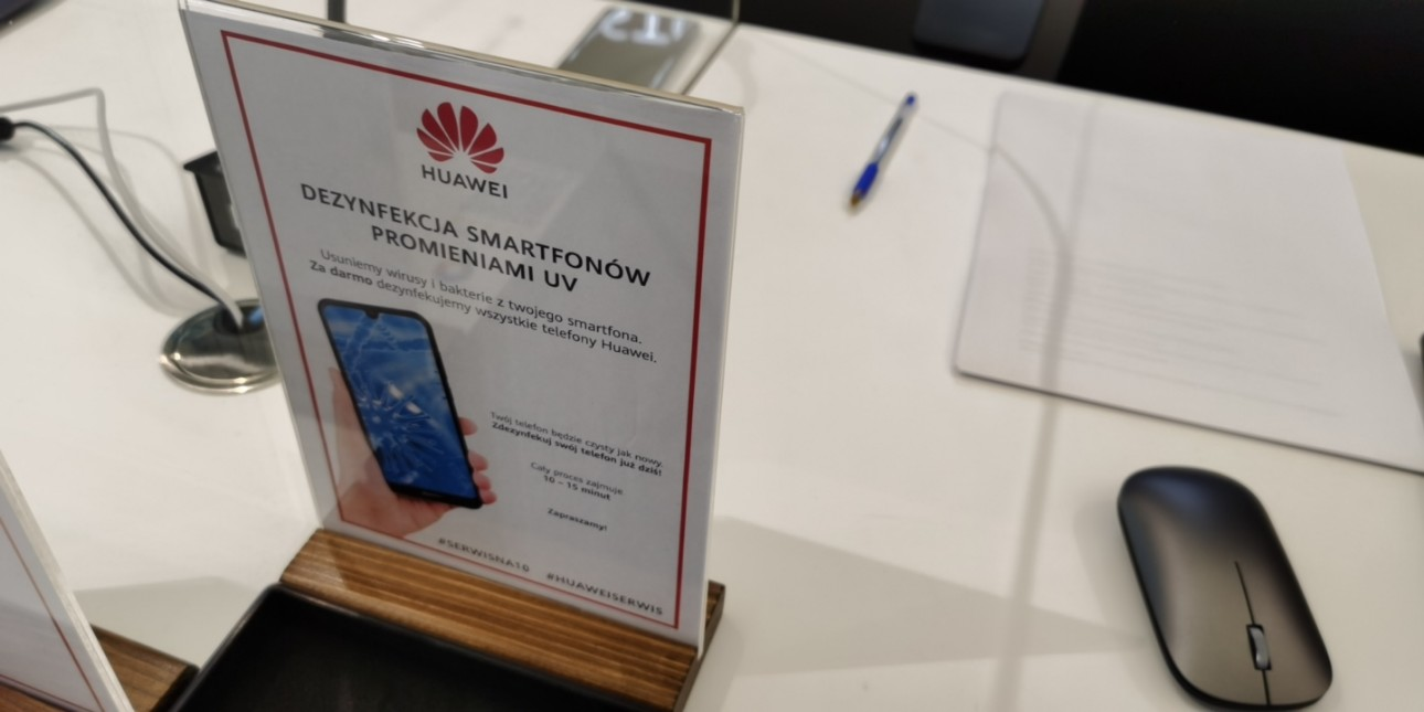 Huawei też za darmo zdezynfekuje Twój smartfon