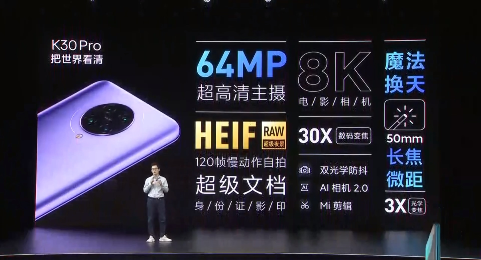 Redmi K30 Pro smartphone camera