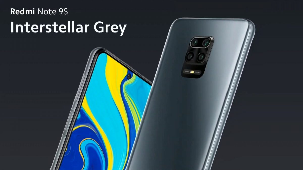 Redmi Note 9S Interstellar Grey