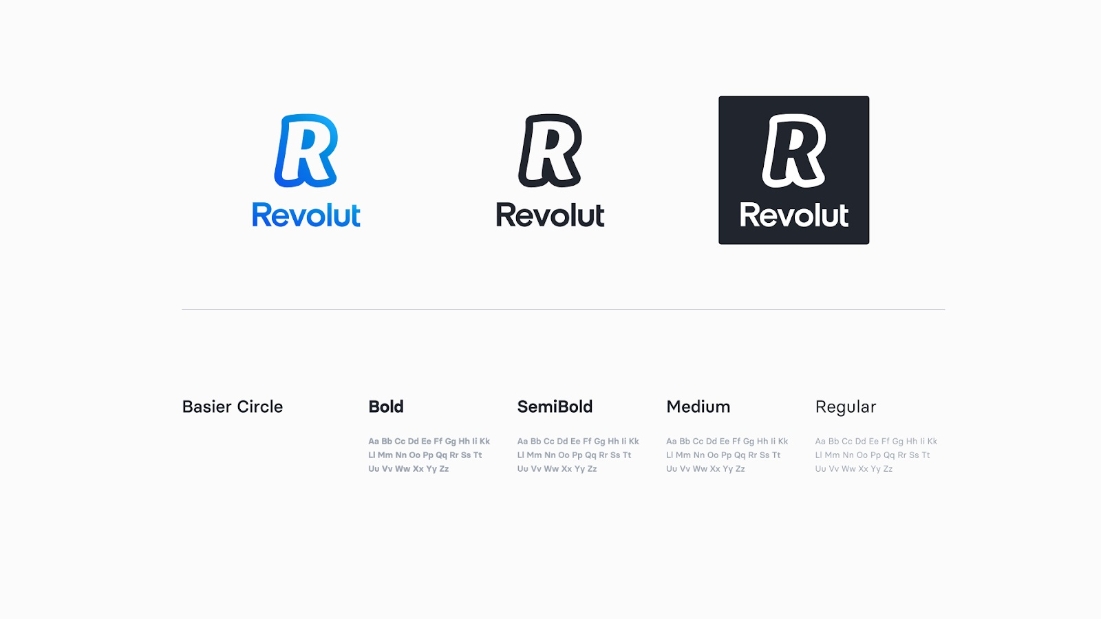 Revolut new logo fonts