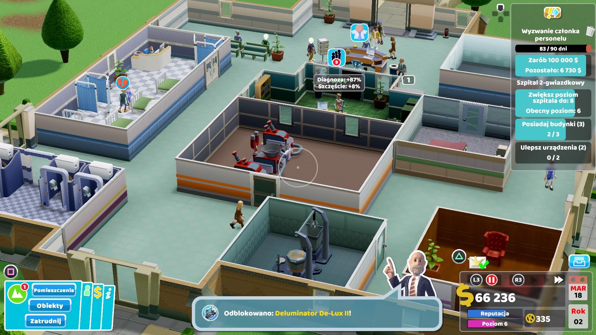 Szpital dla chorych inaczej - recenzja Two Point Hospital na PlayStation 4 22