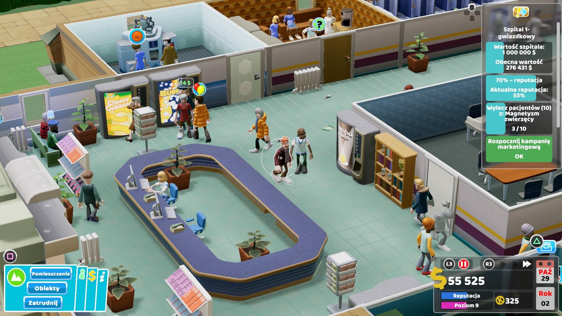 Szpital dla chorych inaczej - recenzja Two Point Hospital na PlayStation 4 19