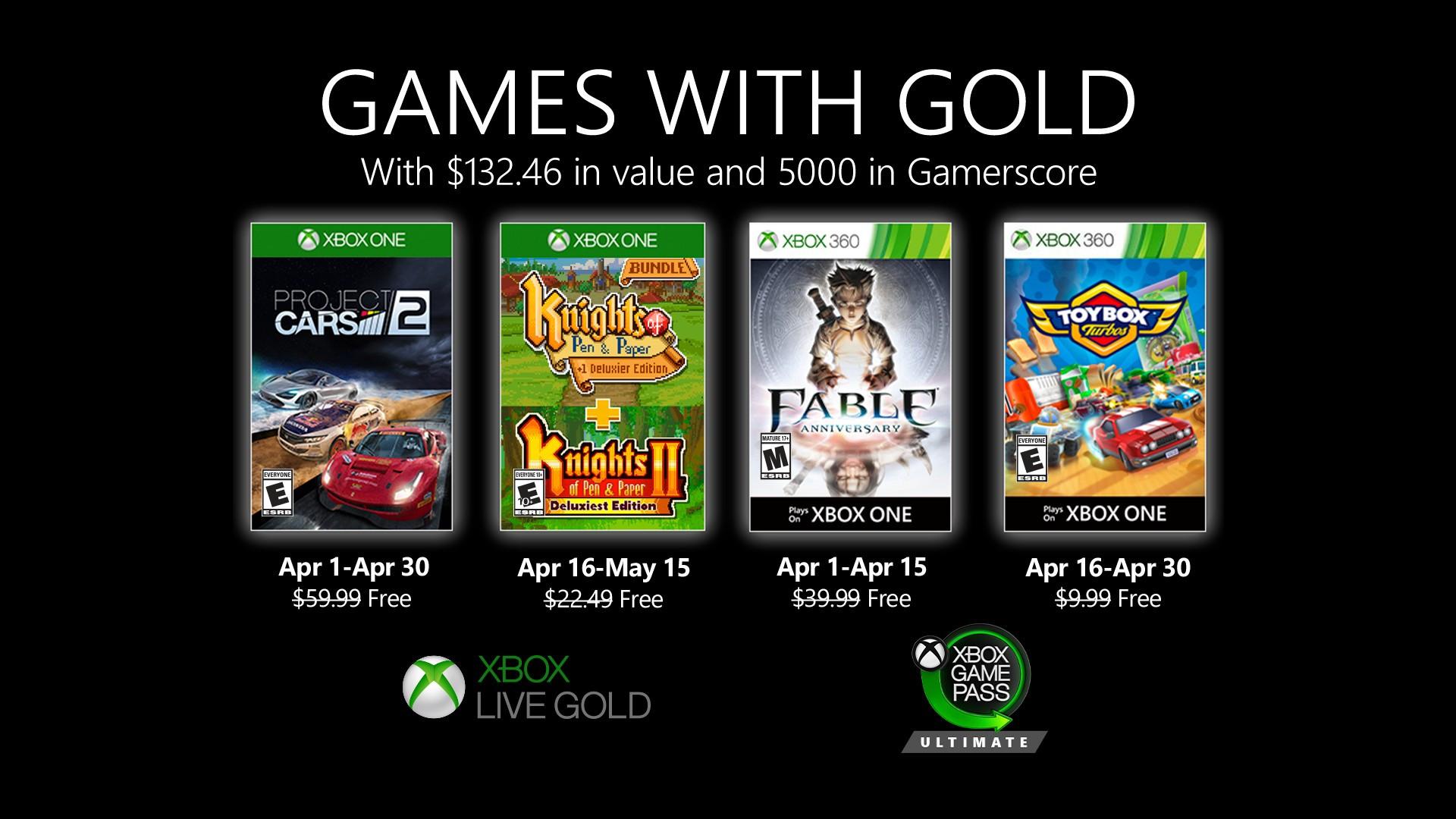 Mocny miesiąc w wykonaniu Xboksa! - Games with Gold na kwiecień 19
