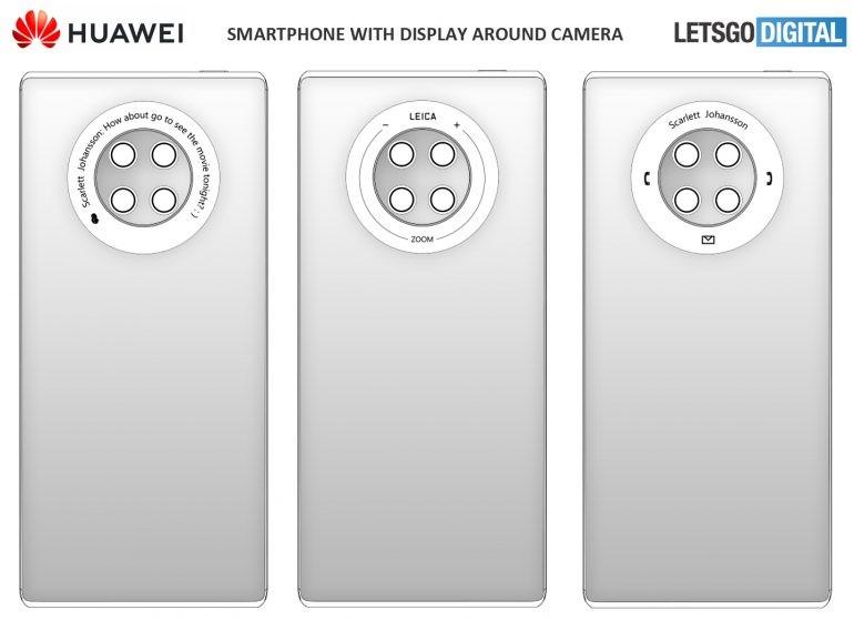 Chcę to. Huawei Mate Pro 40 może dostać ekran dotykowy wokół modułu głównego aparatu 20