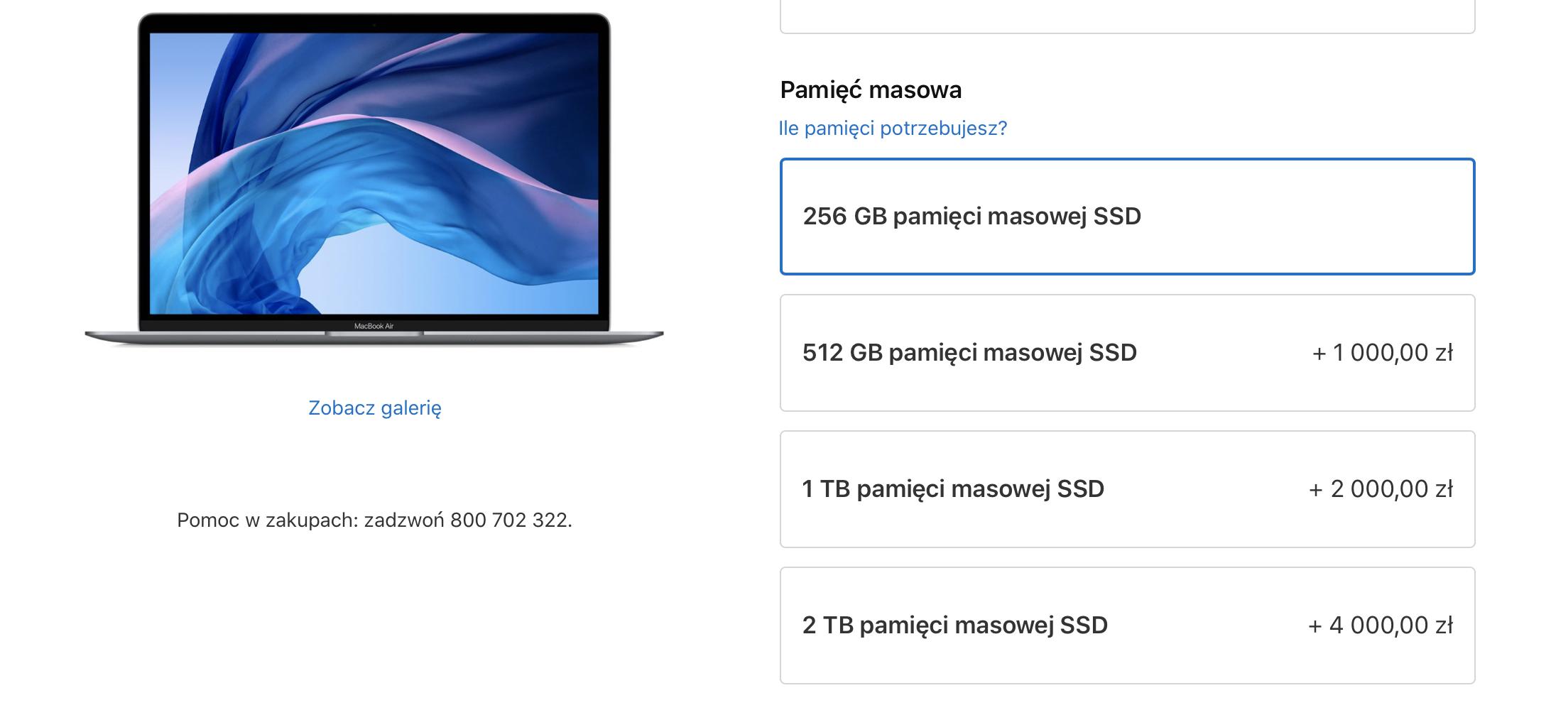 Apple wreszcie zrozumiało, że dysk 128 GB w komputerze to jednak za mało 16