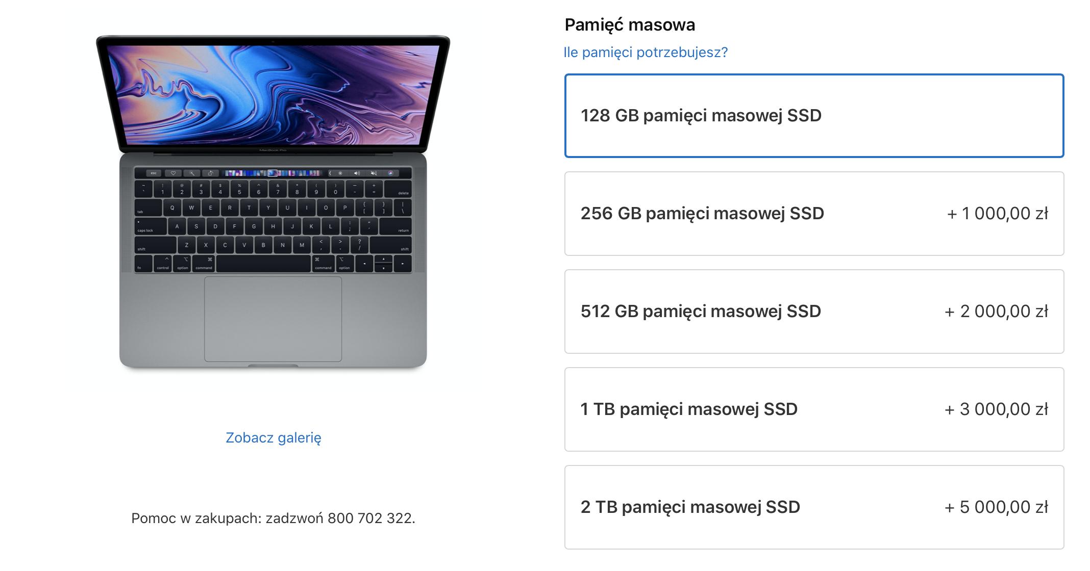 Apple wreszcie zrozumiało, że dysk 128 GB w komputerze to jednak za mało 19