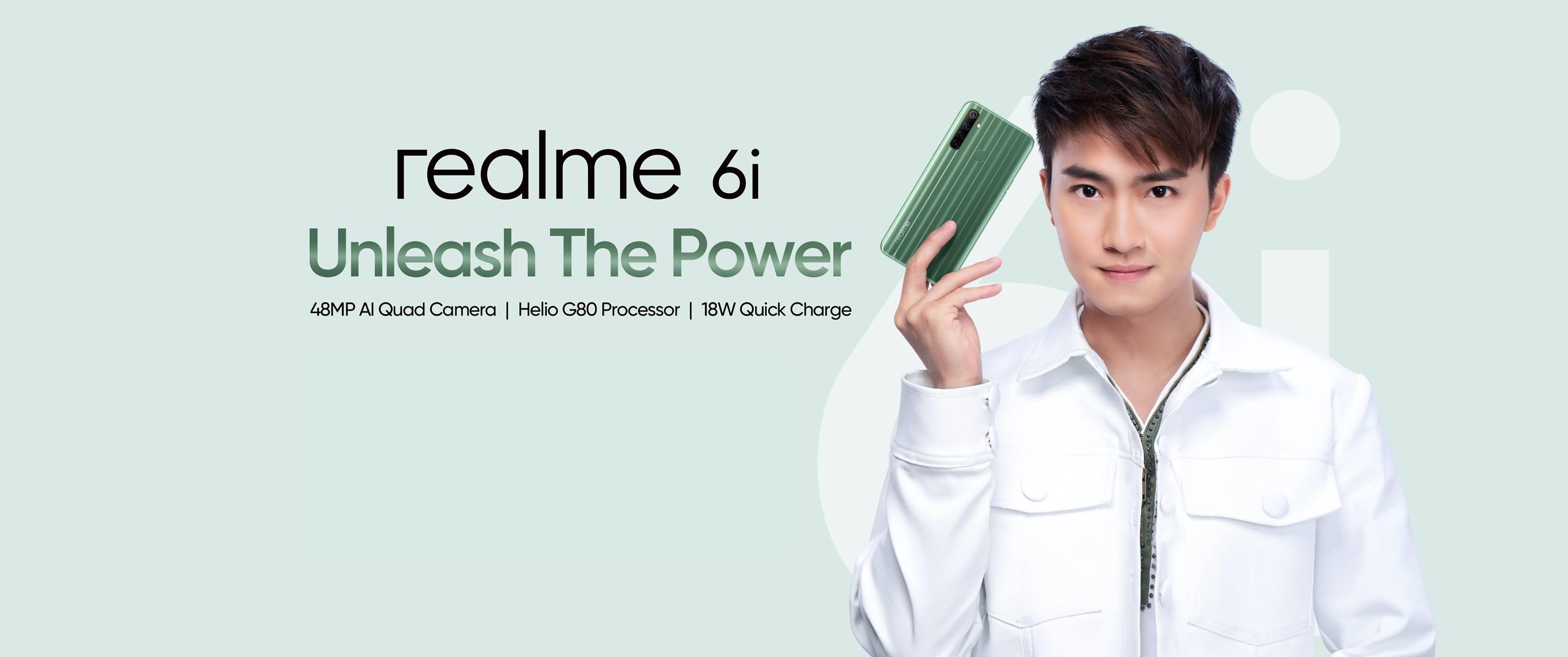 realme 6i smartphone