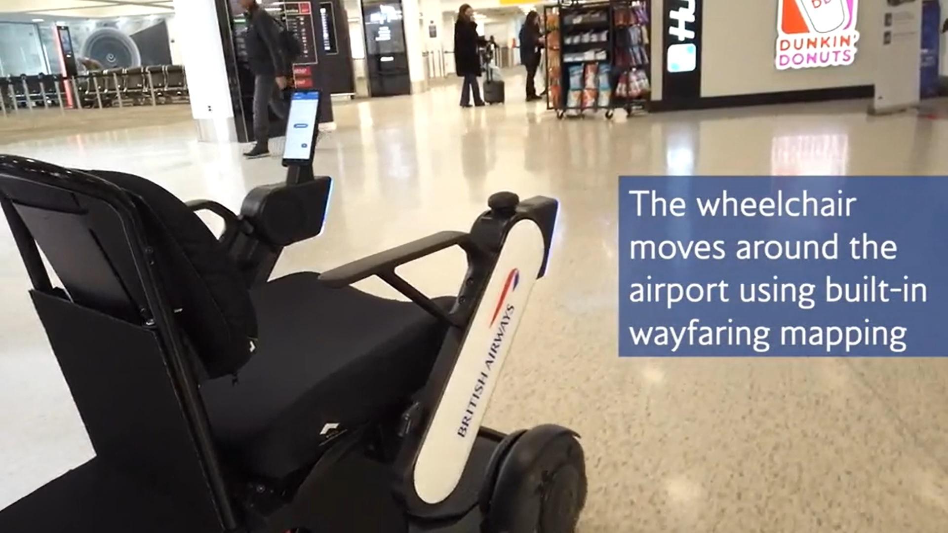 British Airways testuje autonomiczny wózek inwalidzki